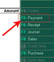 Payment entry in tally or payment voucher