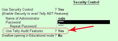 how to enable and use audit feature in Tally ERP 9