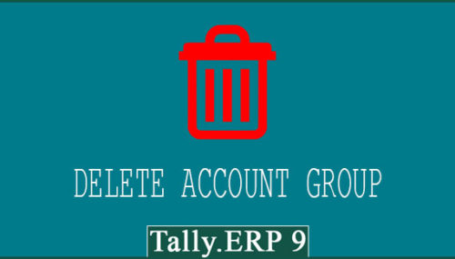 How to delete account group in tally erp 9