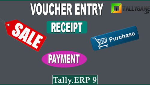 How to enter vouchers in Tally erp 9