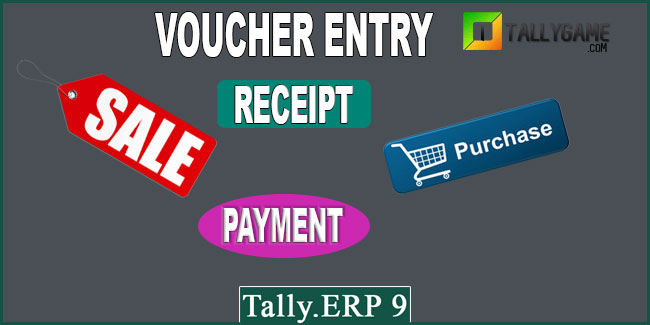 How to enter vouchers in Tally ERP 9?