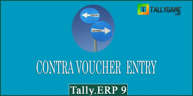 How to enter Contra entry in tally?