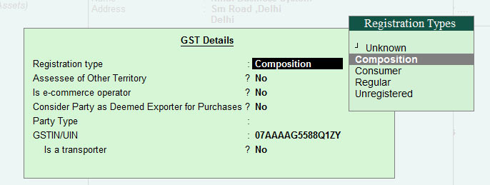gst details for customer