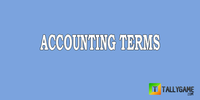 Important terms in accounting
