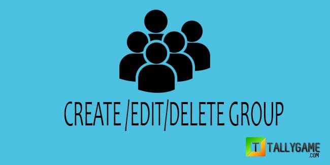 How to create/edit/delete group in Tally ERP 9