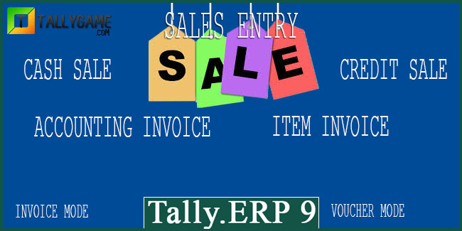 Sales entry,cash sale & credit sale in Tally ERP 9