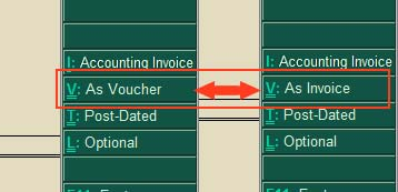 As Invoice as voucher mode toggler
