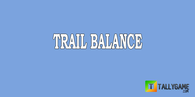 How to prepare a trial balance & it's Format