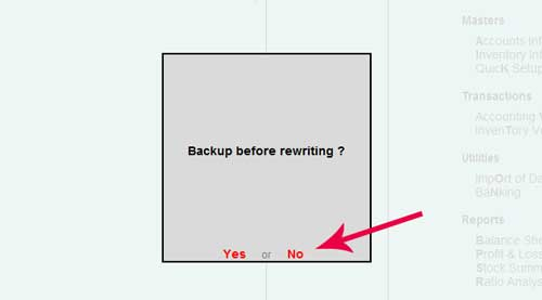 Backup before rewriting