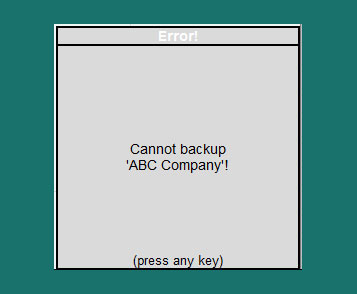 How to fix  Cannot backup company in Tally ERP9?