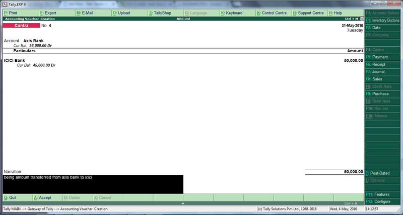 Bank transfer voucher from icici to axis bank,