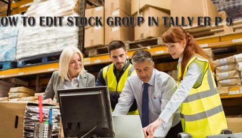 how to edit stock group in tally erp9