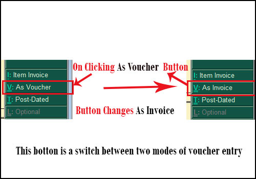 As voucher and As invoice button in tally