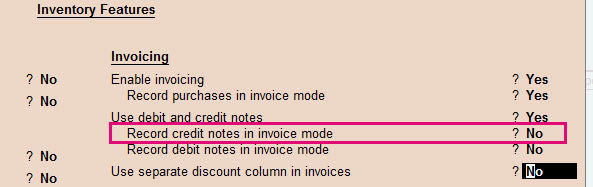 deactivate record credit note in invoice mode
