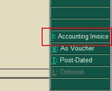 Accounting Voucher button