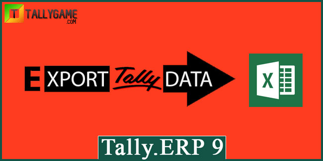 Export data from Tally.ERP 9 in Excel Format