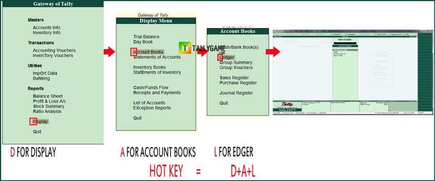 How to know the hot keys in tally erp 9