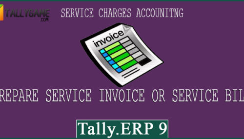 How to prepare service invoices in tally erp 9