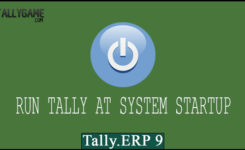 How to make Tally ERP 9 Open on system/windows startup
