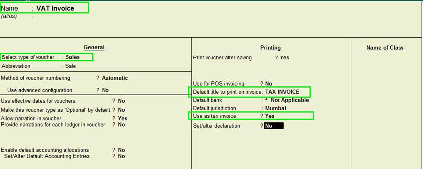 How To Prepare Tax Invoice In Tally Erp 9 - Vat Invocie