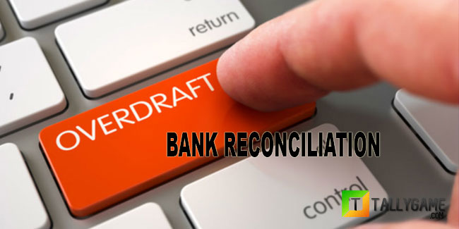 Bank reconciliation in case of overdraft -Example