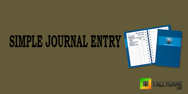 Simple journal entries examples