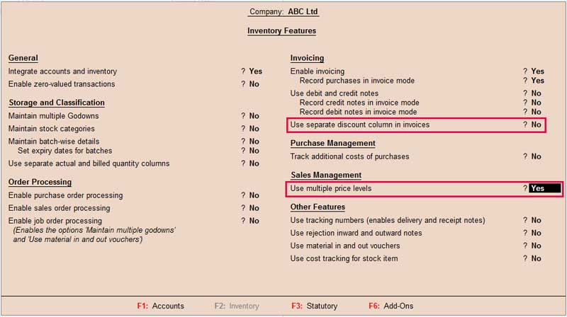How to create price list in tally erp 9, How to use price list