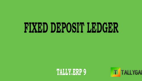 How to create fixed deposit ledger