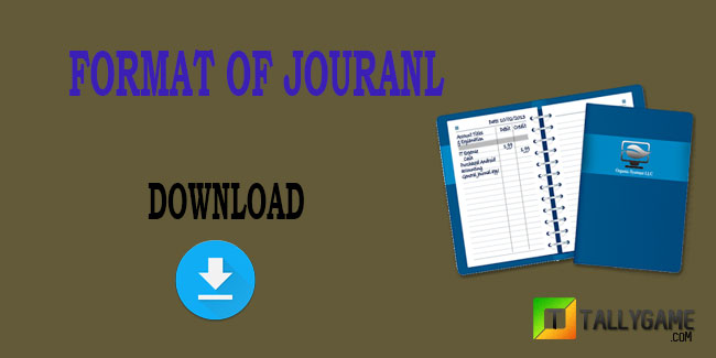 Format of journal in accounting