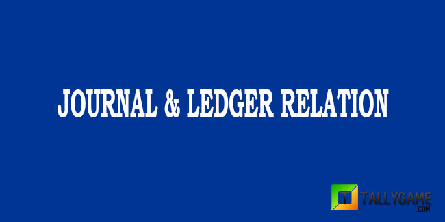 Relation between journal and ledger