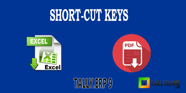 Tally erp 9 shortcut keys list in excel and pdf