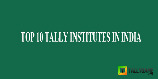 Top 10 Tally Training Institutes in India