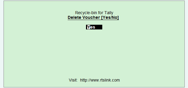 Voucher deletion confirmation