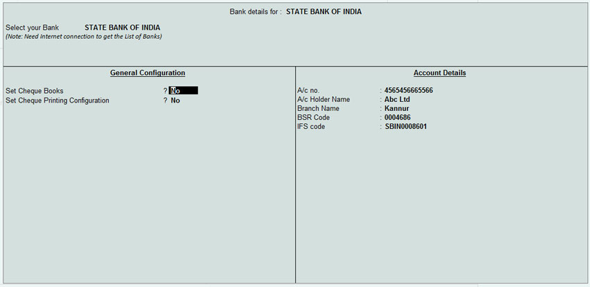 How To Add And Print Bank Details In Tally Erp Invoice - Invoice with bank details