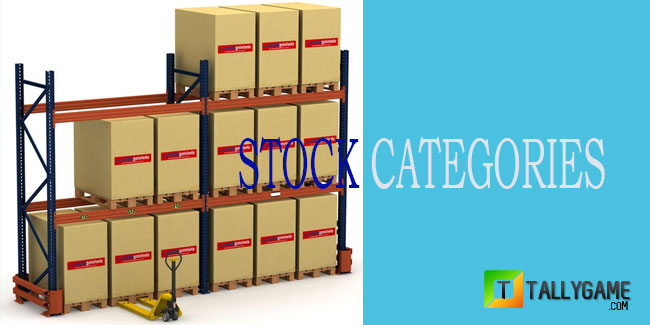 How to create,edit,delete stock category  in tally erp 9?