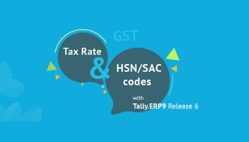 Configure HSN SAC & gst rate