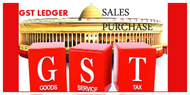 Create GST Purchase and sales ledger