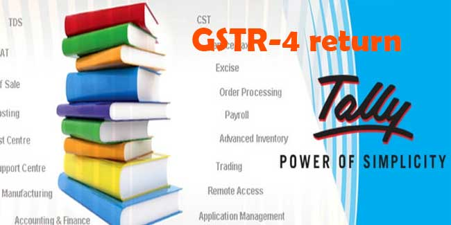 How to file GSTR-4 using tally erp 9 ?