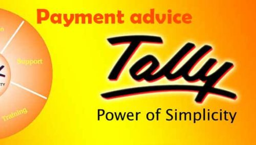 Payment advice in tally