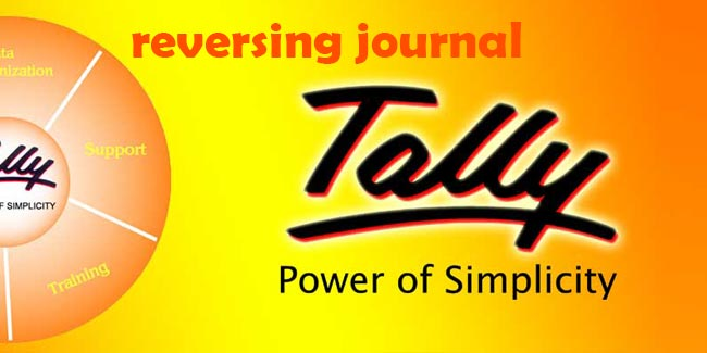 What is reversing Journal in tally erp 9? How to use it in tally?
